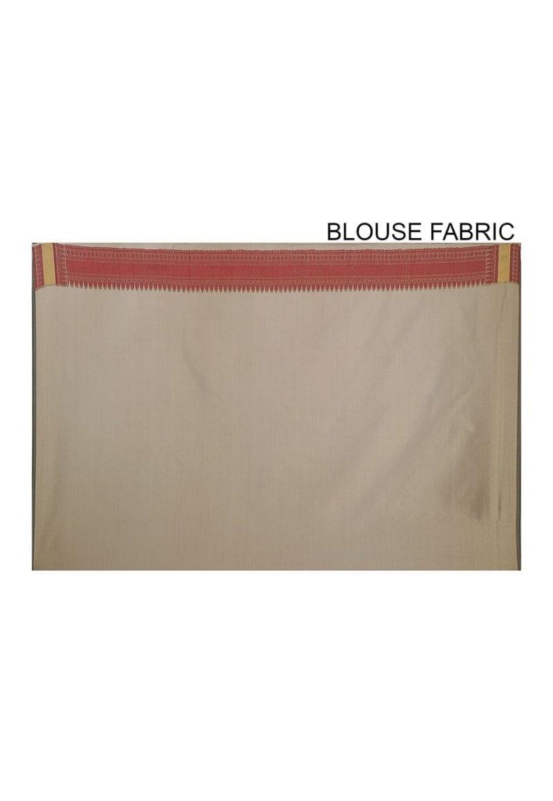 Woven Banarasi Art Silk Saree in Beige 4