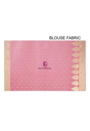 Woven Banarasi Chanderi Silk Saree in Pink 9