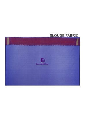 Woven Banarasi Art Silk Saree in Royal Blue 8