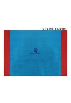 Woven Banarasi Art Silk Saree in Blue 8