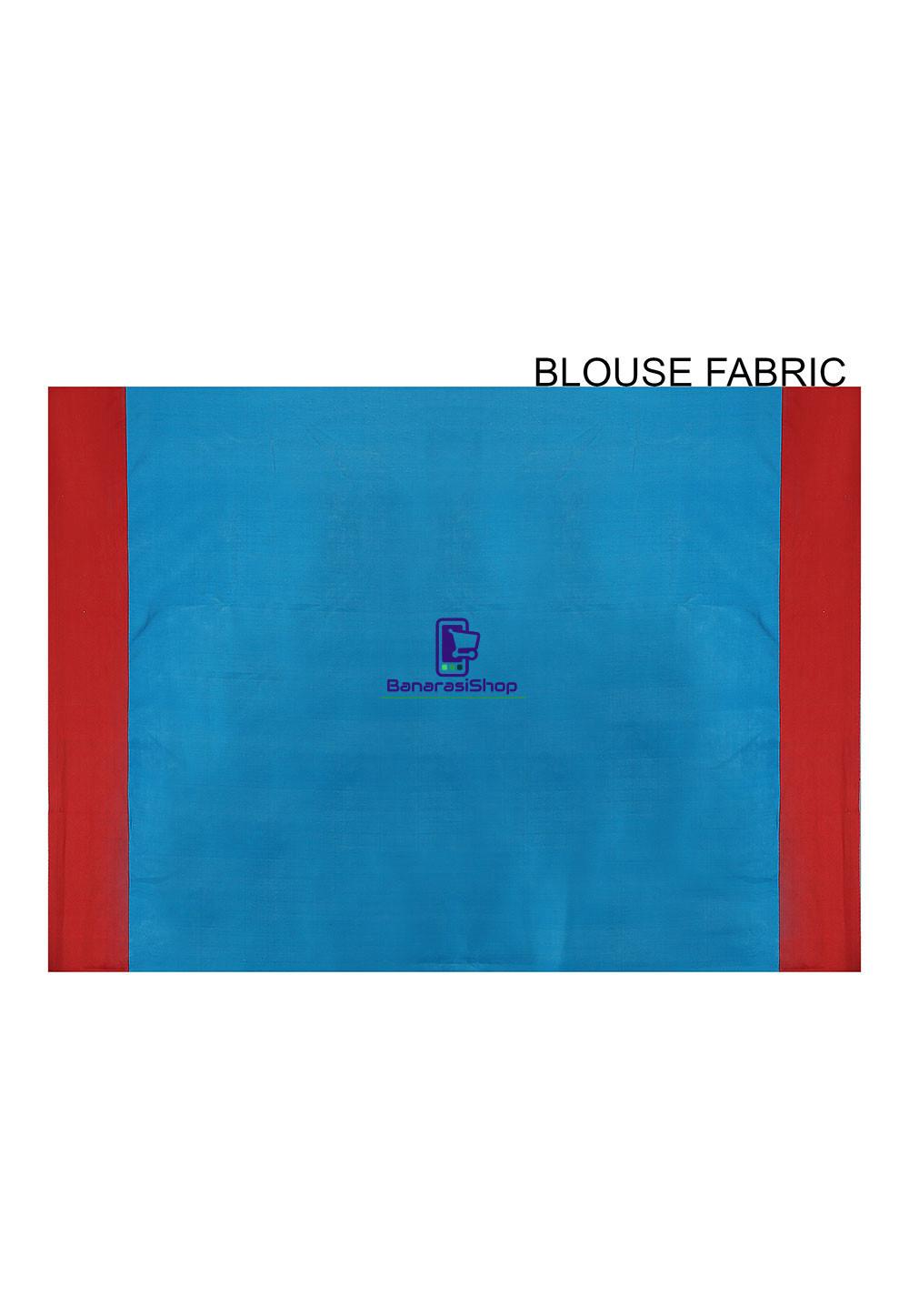 Woven Banarasi Art Silk Saree in Blue 4