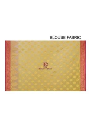 Woven Banarasi Cotton Silk Saree in Mustard 8