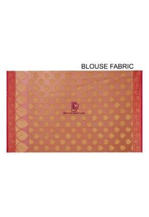 Woven Banarasi Cotton Silk Saree in Orange 8