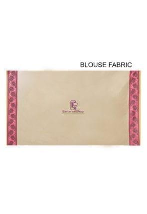 Woven Banarasi Cotton Silk Saree in Beige 5