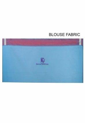 Woven Banarasi Chanderi Silk Saree in Teal Blue 5