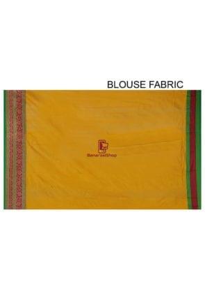 Banarasi Pure Katan Silk Handloom Saree in Yellow 9