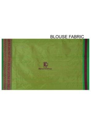 Banarasi Katan Silk Handloom Saree in Light Green 8