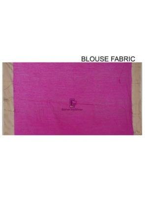 Pure Banarasi Muga Silk Handloom Saree in Fuchsia 8