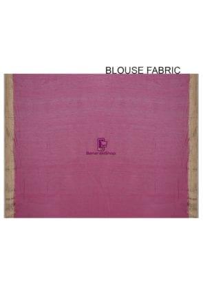 Pure Banarasi Muga Silk Handloom Saree in Pink 8