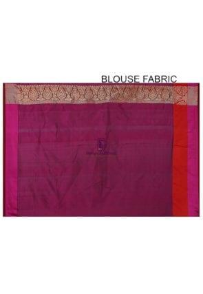Banarasi Pure Katan Silk Handloom Saree in Teal Green 8