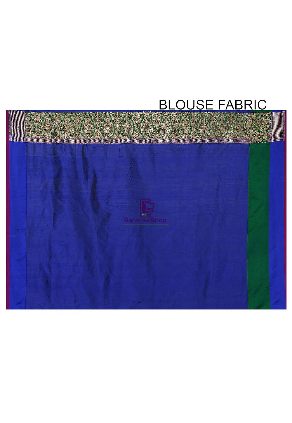 Banarasi Pure Katan Silk Handloom Saree in Purple 4