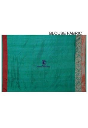 Banarasi Pure Katan Silk Handloom Saree in Light Beige 9