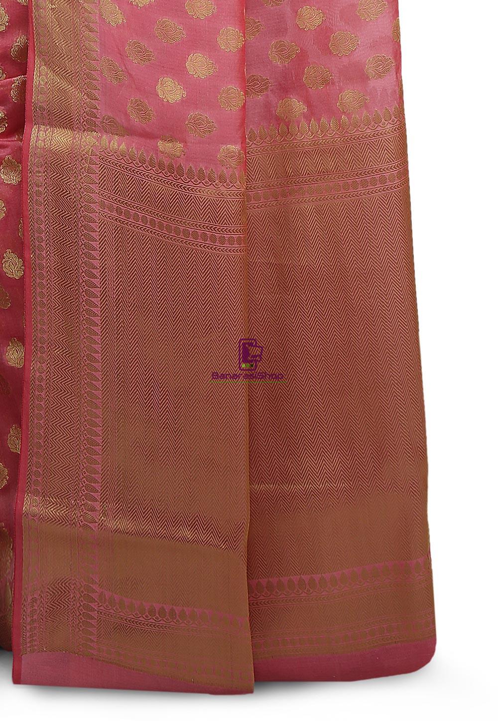 Banarasi Saree in Pink 3
