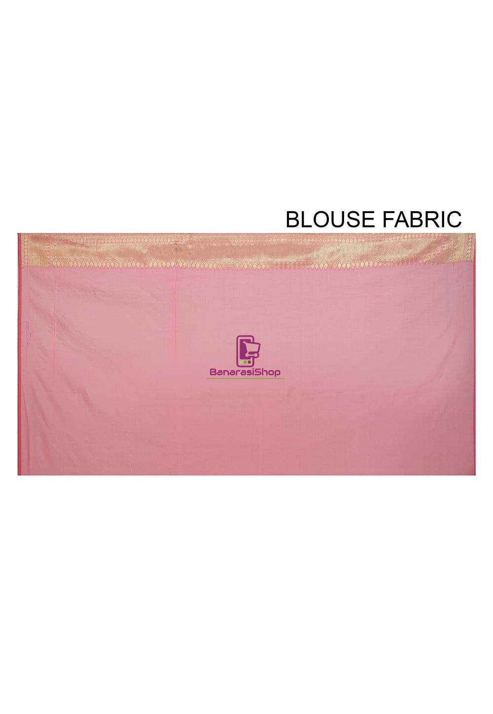 Banarasi Saree in Pink 4