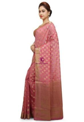 Banarasi Saree in Pink 9