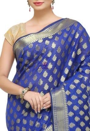 Banarasi Saree in Royal Blue 6