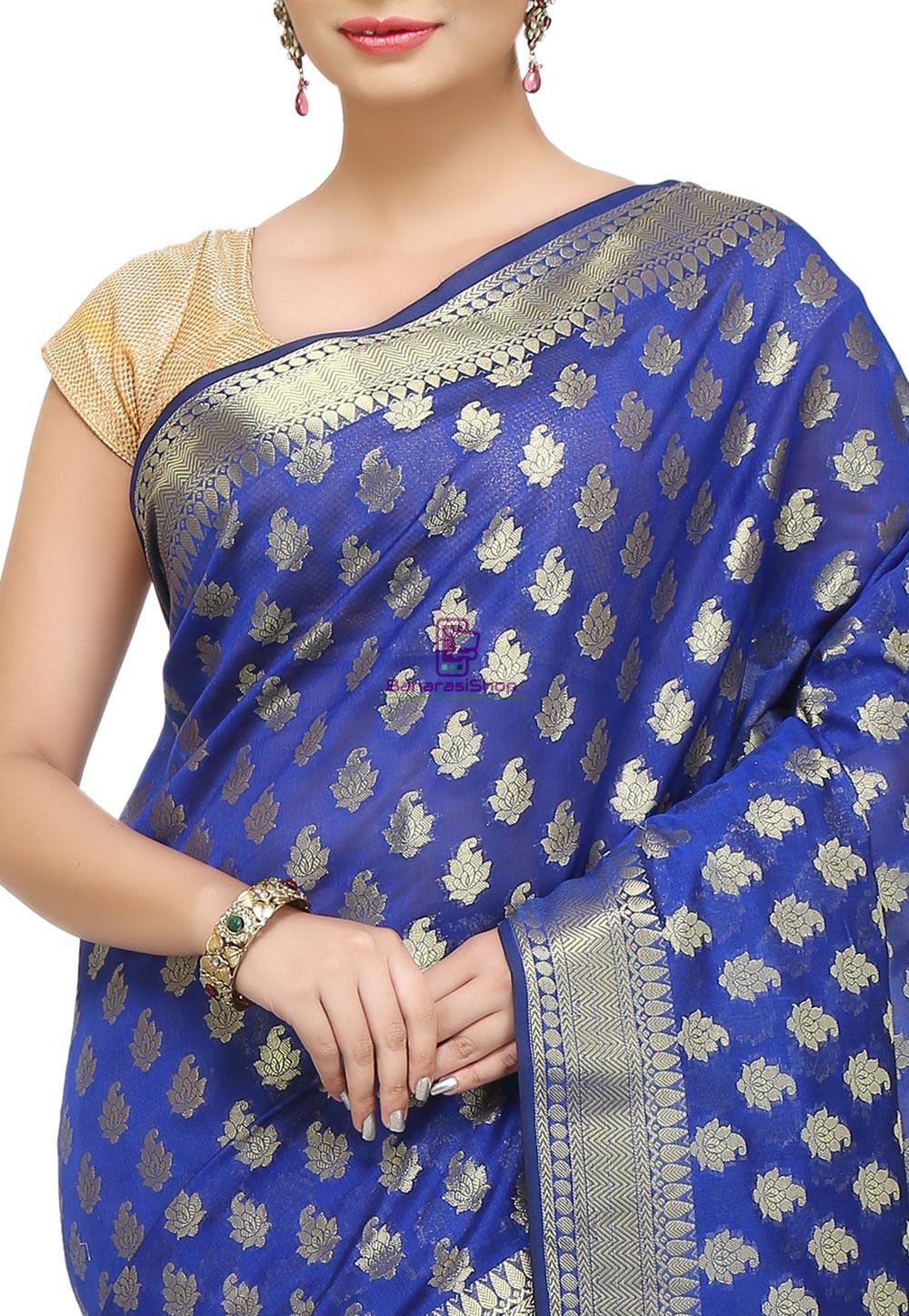 Banarasi Saree in Royal Blue 2