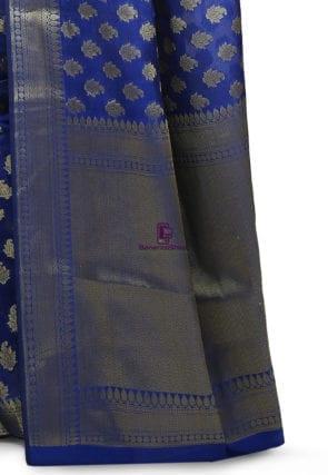 Banarasi Saree in Royal Blue 7