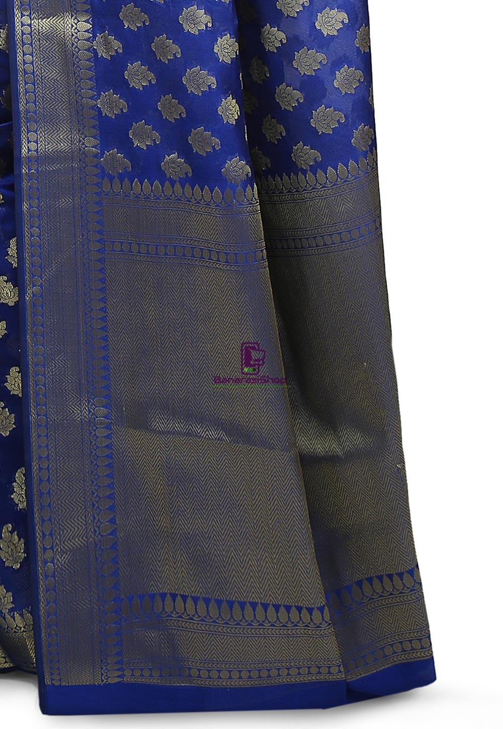 Banarasi Saree in Royal Blue 3
