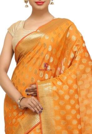 Banarasi Saree in Mustard 6