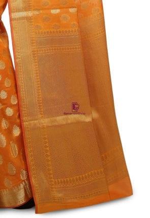 Banarasi Saree in Mustard 7