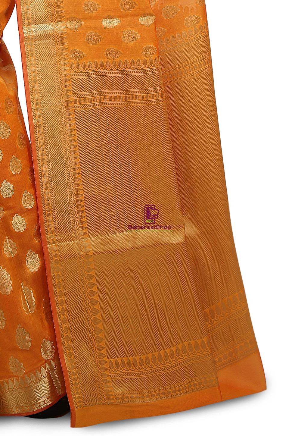 Banarasi Saree in Mustard 3