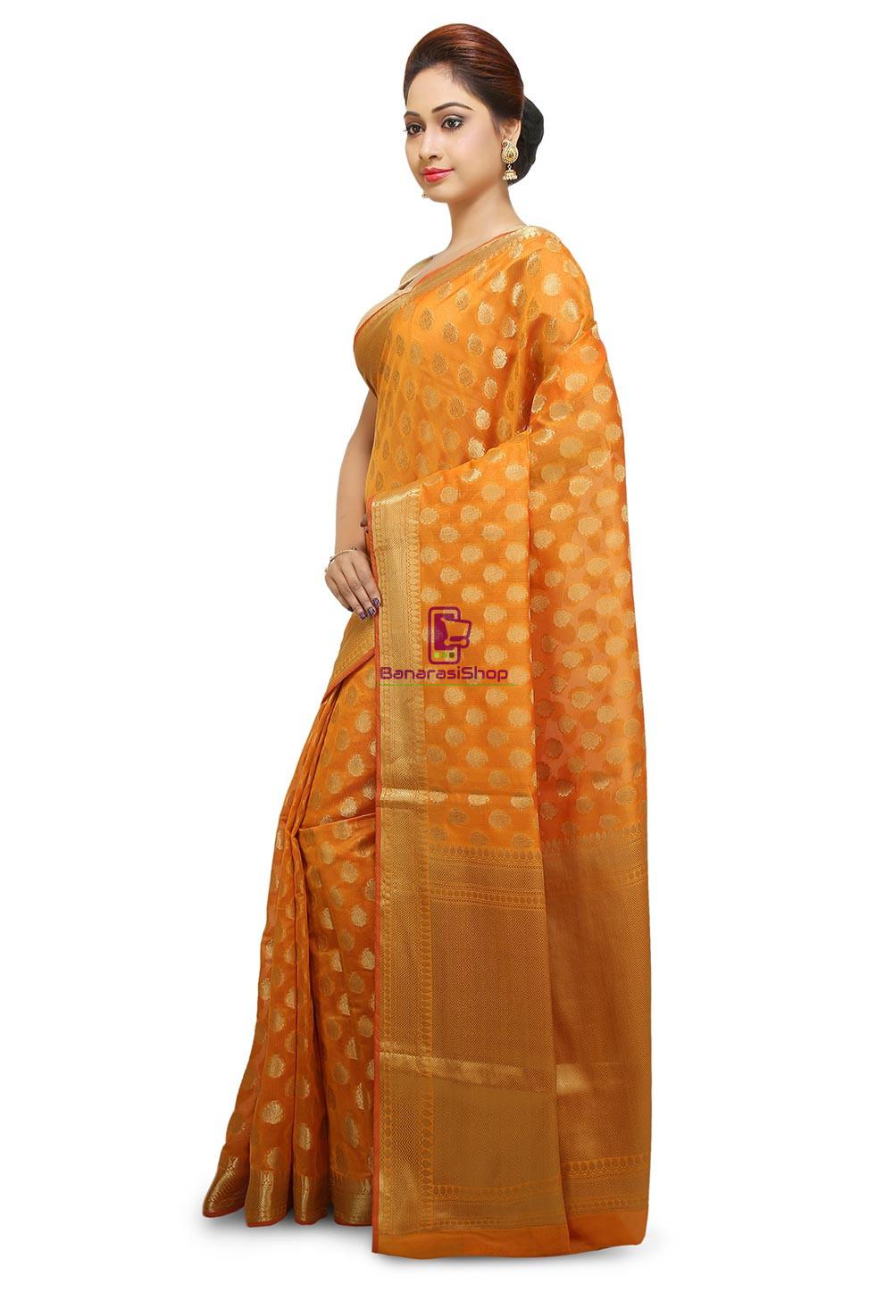 Banarasi Saree in Mustard 5