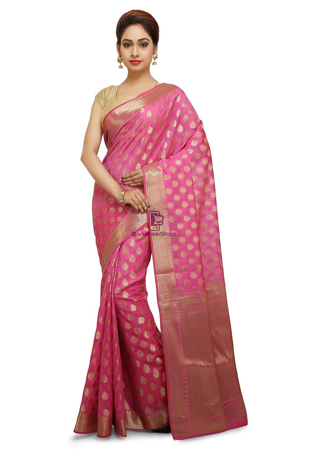 Banarasi Saree in Pink 1