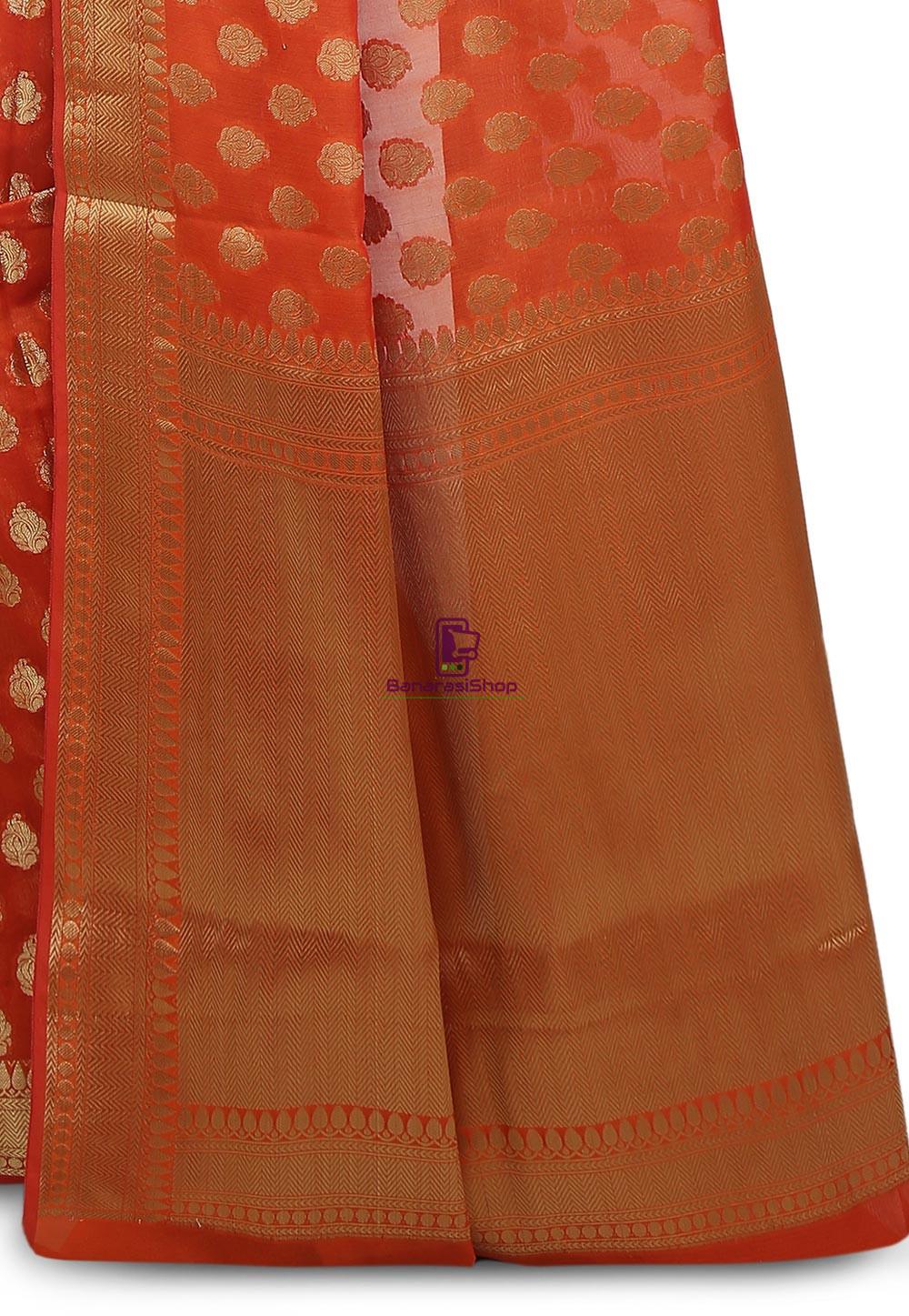 Banarasi Saree in Orange 3
