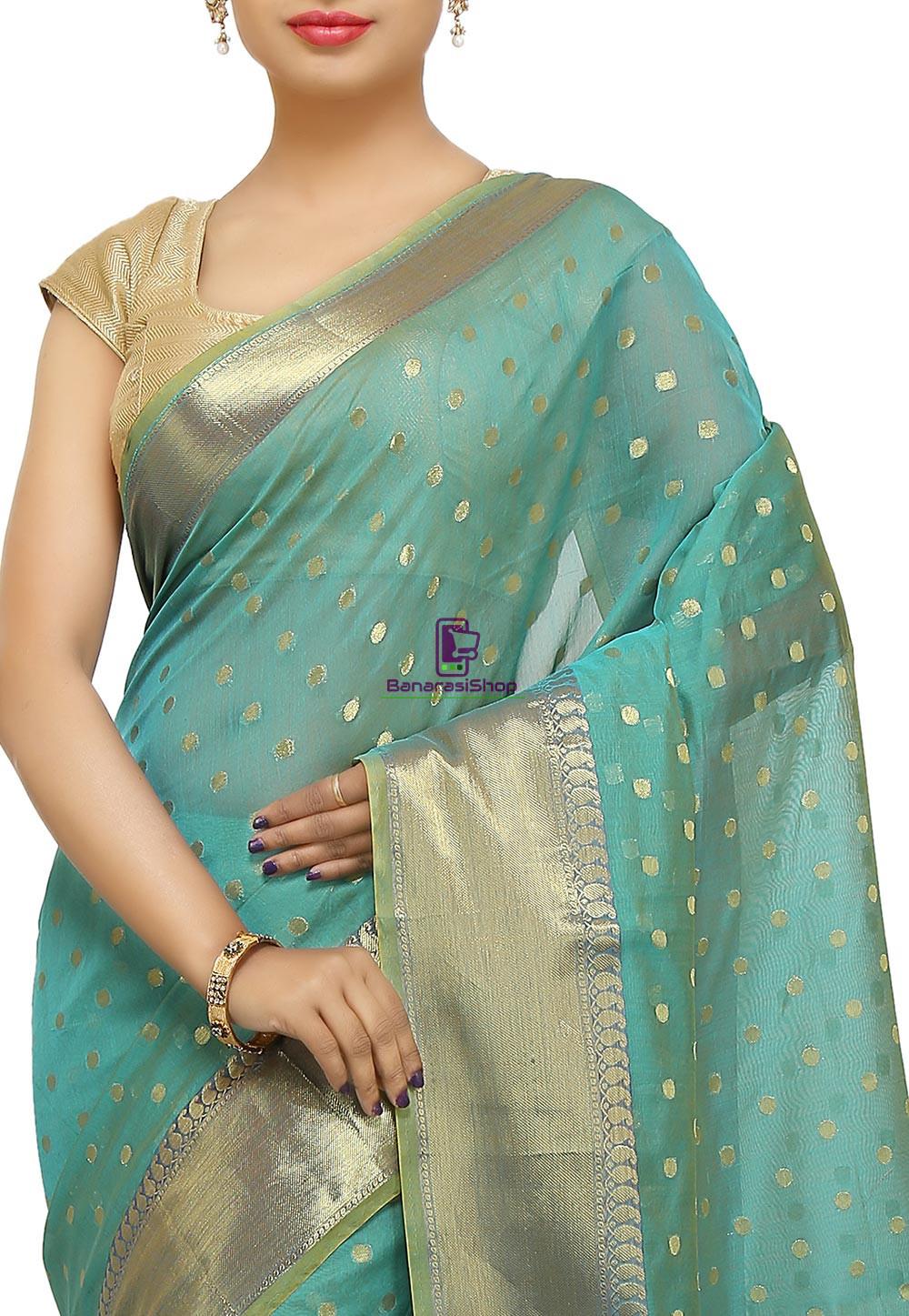 Banarasi Saree in Turquoise 2