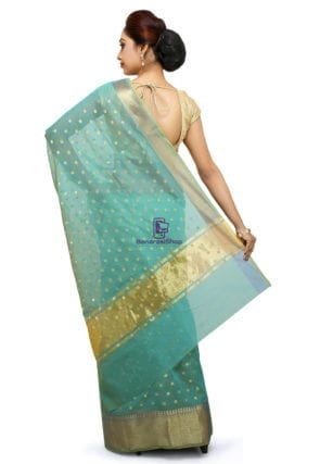Banarasi Saree in Turquoise 7