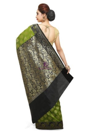Banarasi Saree in Olive Green 9