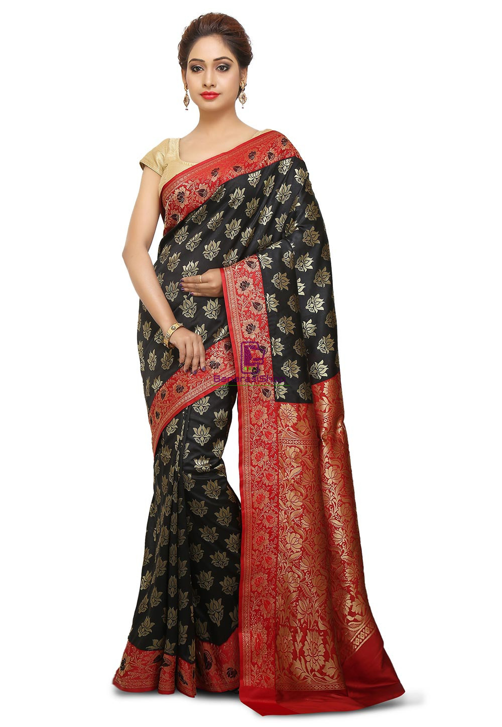 Banarasi Saree in Black 1
