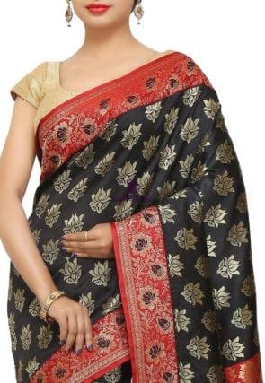 Banarasi Saree in Black 6