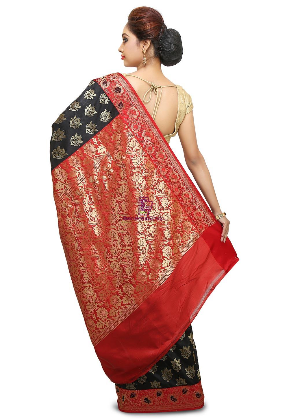 Banarasi Saree in Black 5