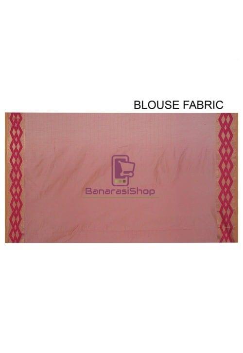 Woven Banarasi Cotton Silk Saree in Pink 5
