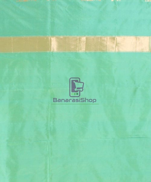 Pure Banarasi Uppada Handloom Silk Saree in Mint Green 7