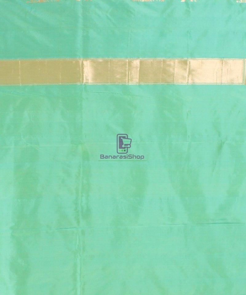 Pure Banarasi Uppada Handloom Silk Saree in Mint Green 4