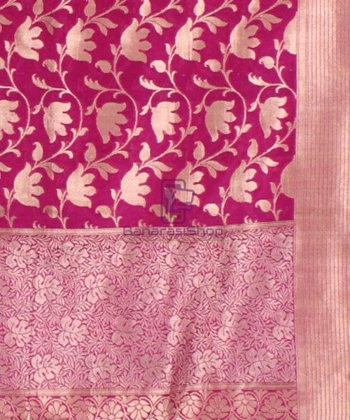 Pure Banarasi Uppada Handloom Silk Saree in Purple 6