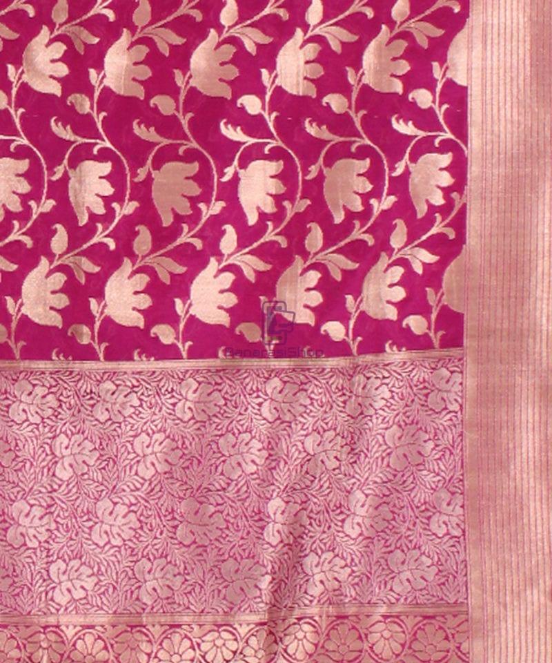 Pure Banarasi Uppada Handloom Silk Saree in Purple 3
