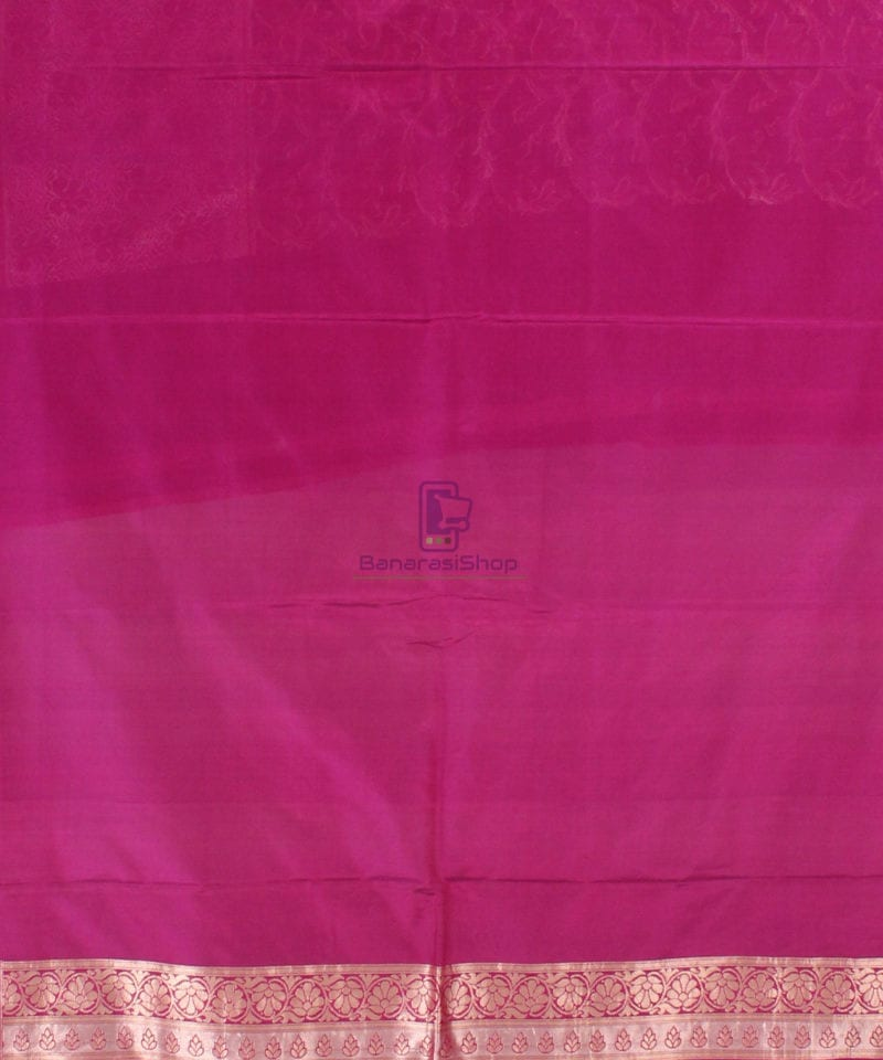 Pure Banarasi Uppada Handloom Silk Saree in Purple 4