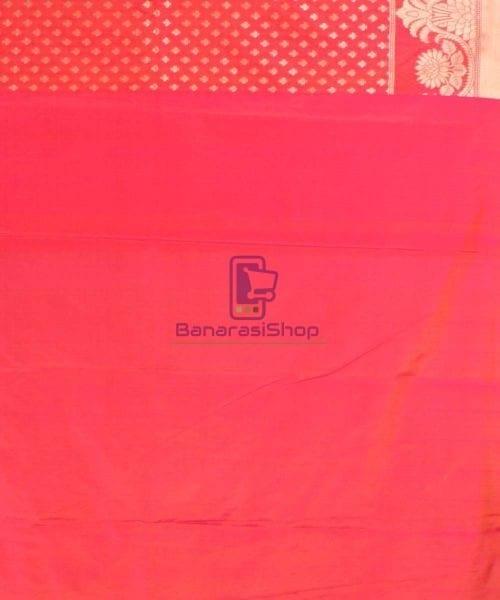 Pure Banarasi Uppada Handloom Silk Saree in Bright Red 7