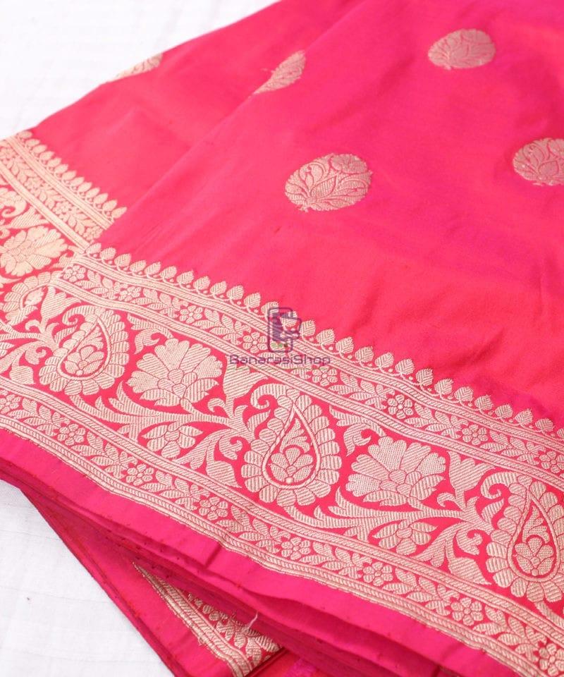 Handwoven Banarasi Katan Pure Silk Saree in Red 1