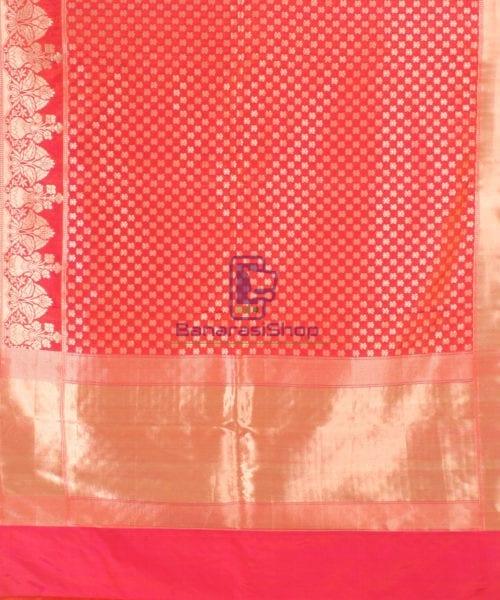 Pure Banarasi Uppada Handloom Silk Saree in Rose Pink 5