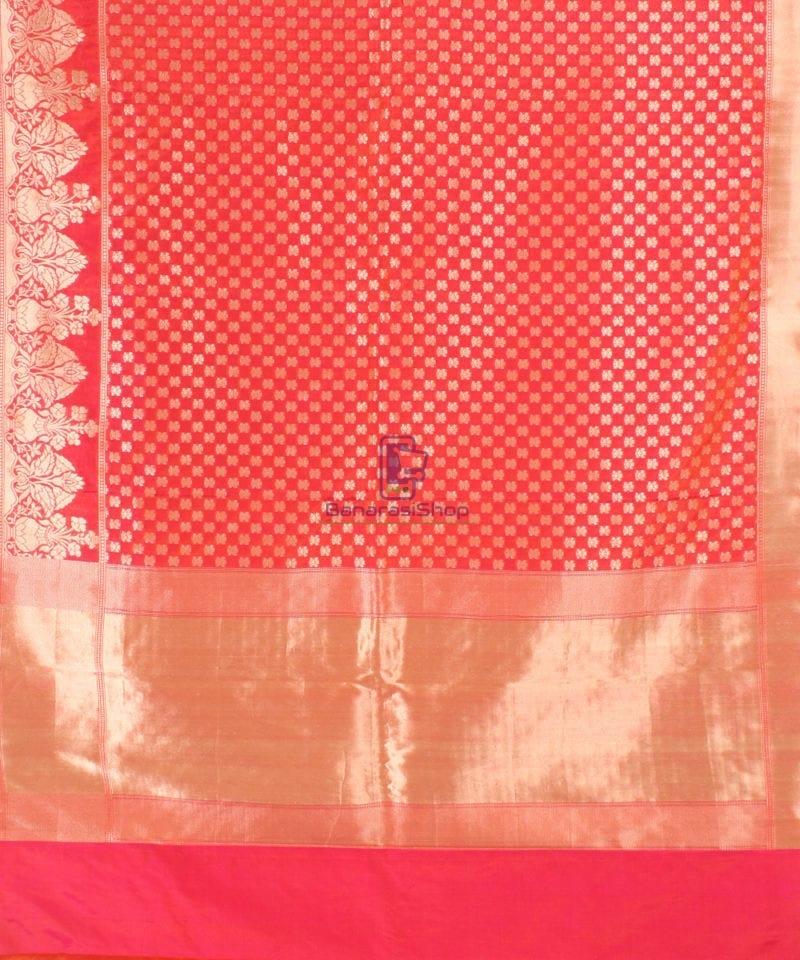 Pure Banarasi Uppada Handloom Silk Saree in Rose Pink 2