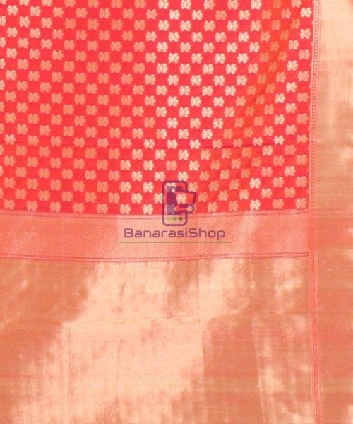 Pure Banarasi Uppada Handloom Silk Saree in Rose Pink 6