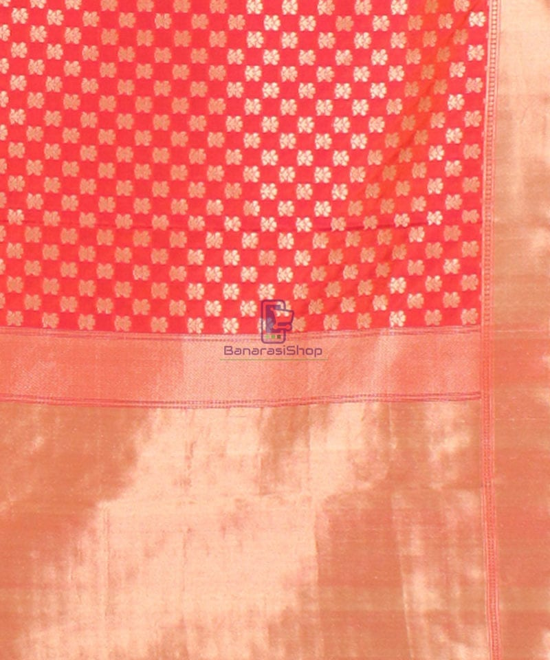 Pure Banarasi Uppada Handloom Silk Saree in Rose Pink 3