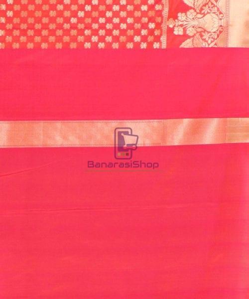 Pure Banarasi Uppada Handloom Silk Saree in Rose Pink 7