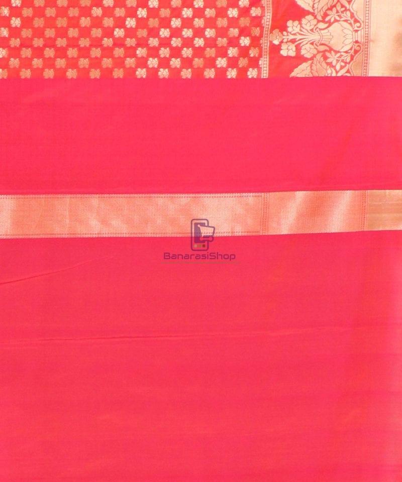 Pure Banarasi Uppada Handloom Silk Saree in Rose Pink 4