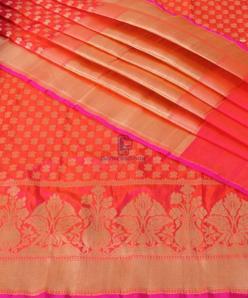 Pure Banarasi Uppada Handloom Silk Saree in Rose Pink 1